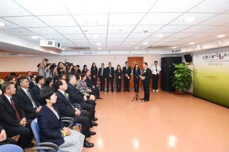 公職局局長高炳坤在開幕儀式上致辭