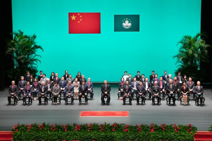 中華人民共和國澳門特別行政區2019年度勳章、獎章和獎狀頒授典禮在文化中心舉行。