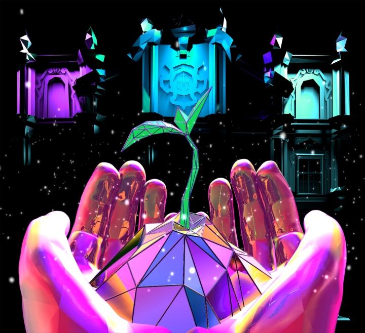 本地團隊於聖若瑟修院聖堂打造的光雕表演效果圖