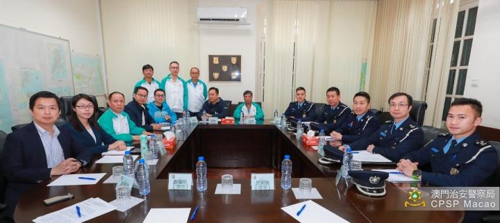交通運輸業總工會到訪治安警察局反映非法司機