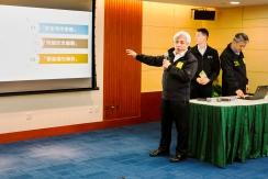 司警局情報及支援廳馮浩賢廳長介紹宣傳工作內容