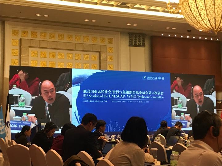 地球物理暨氣象局鄧耀民代局長在會上發言