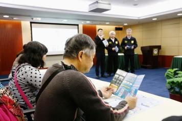 於司警局總部大樓進行風暴潮撤離計劃宣傳工作會議