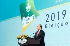 澳門特別行政區第五任行政長官選舉:賀一誠當選後向選委致謝