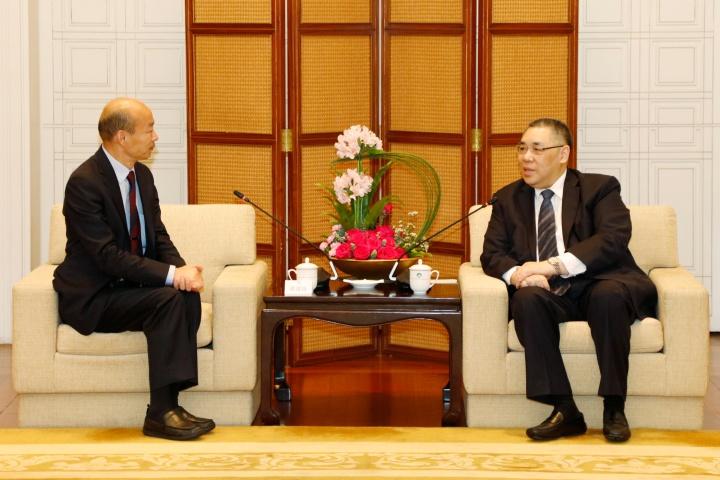行政長官崔世安與高雄市市長韓國瑜會面