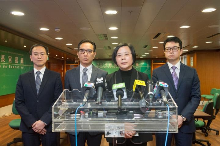 行政長官選舉管理委員會主席宋敏莉向傳媒介紹會議內容