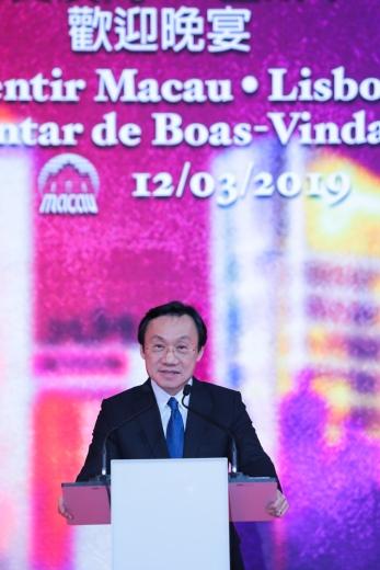 譚俊榮表示是次大型推廣活動有助澳門與葡萄牙這特別的一年加深友誼及旅遊聯繫