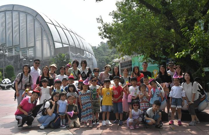 邀請小朋友及老師們一同出席大熊貓「開開」的生日會