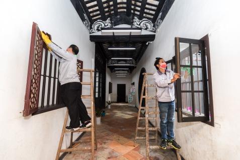 文化場館在開放前加強清潔及消毒 (1)