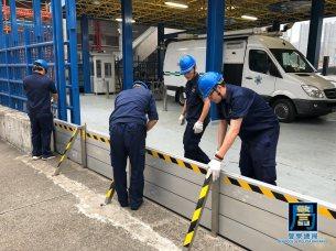 海事局協調內港南舢舨碼頭安裝防水旱閘檔水板