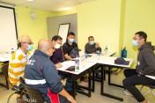 結業學員參與就業配對會現場企業面試