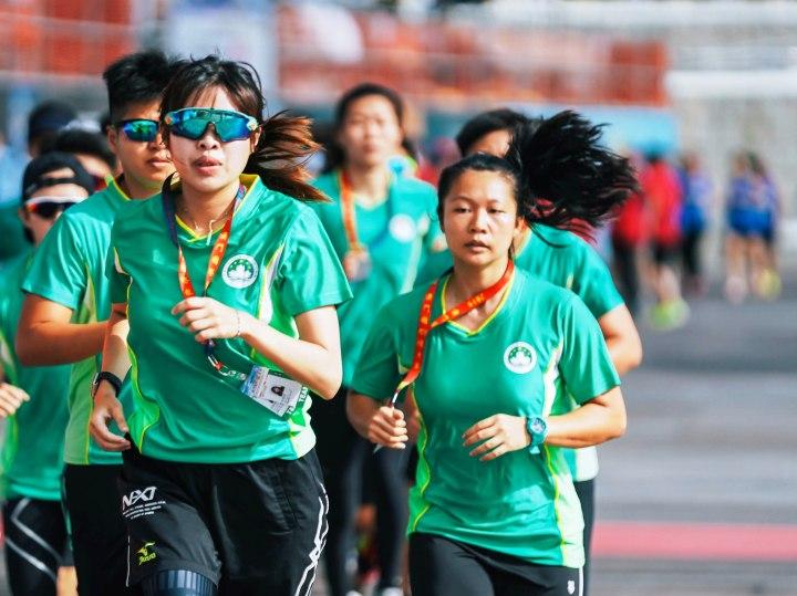 11. 澳門女子代表隊賽前熱身