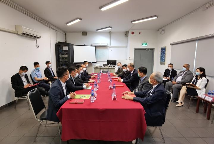CAM執行委員會成員與消防局局長會面1