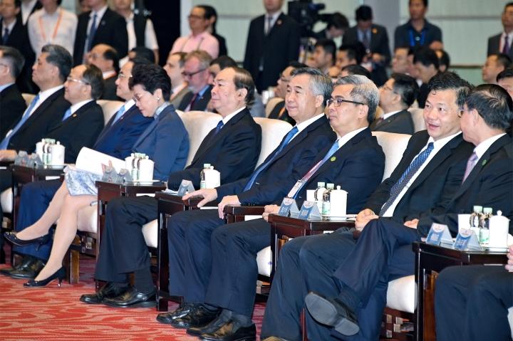 保安司司長黃少澤代表行政長官出席在廣州舉行的首屆粵港澳大灣區媒體峰會開幕式