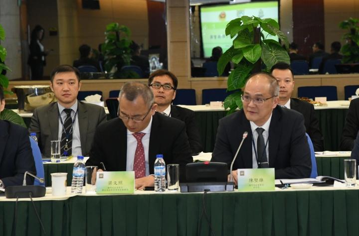 司法警察局副局長陳堅雄於會上發言