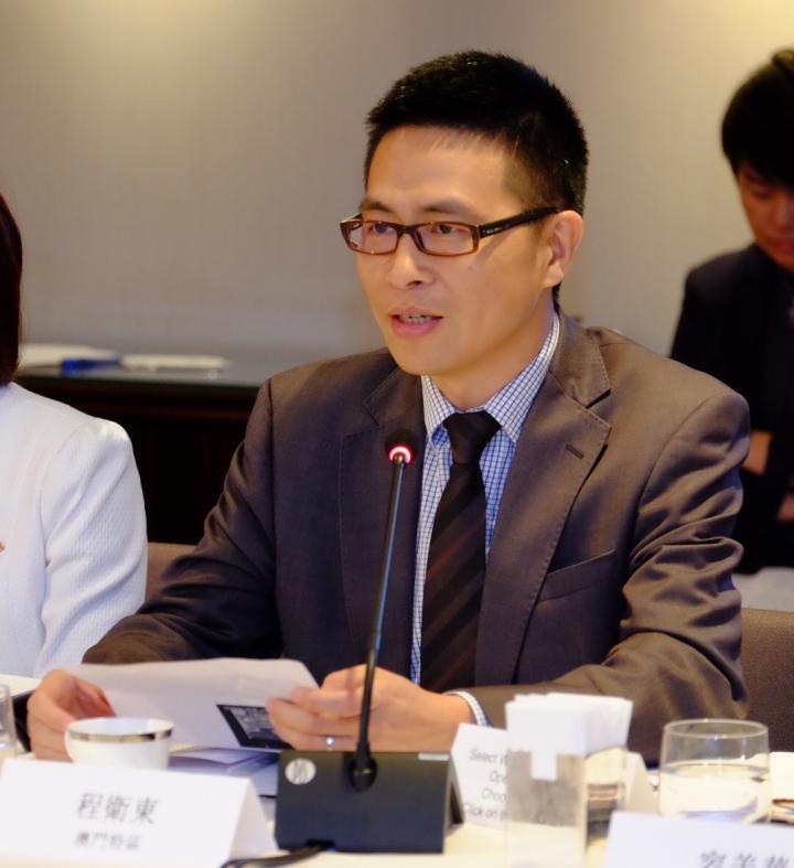 旅遊局副局長程衛東於會上發言