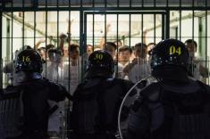 演練模擬﹕囚倉區有在囚同黨煽動在囚人在倉區暴動