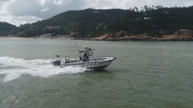 演練模擬﹕海關加強沿岸及海上巡邏