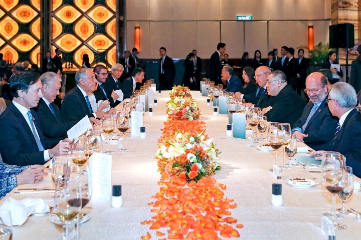 特區政府為到訪的葡萄牙共和國總統馬塞洛‧雷貝洛‧德索薩舉行歡迎晚宴
