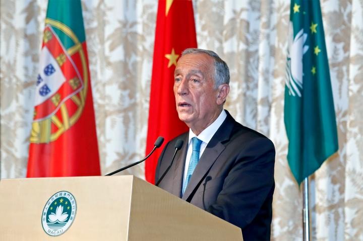 葡萄牙共和國總統馬塞洛‧雷貝洛‧德索薩在特區政府歡迎晚宴上致辭