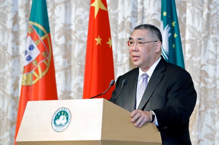行政長官崔世安在歡迎葡萄牙共和國總統馬塞洛‧雷貝洛‧德索薩訪澳的晚宴上致辭