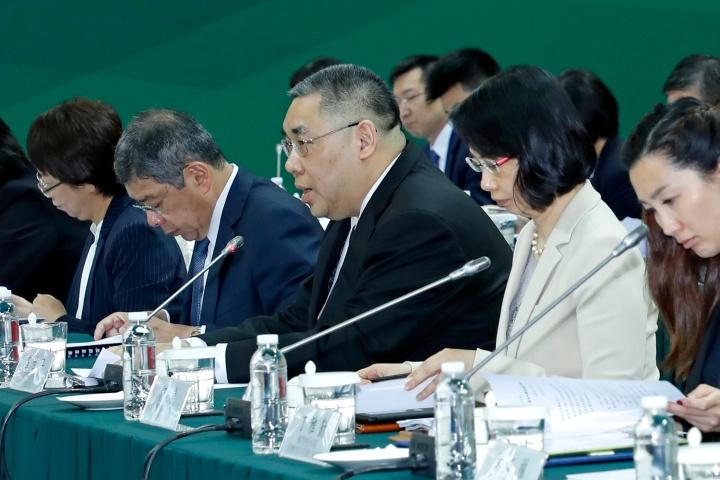 行政長官崔世安在粵澳合作聯席會議上發言