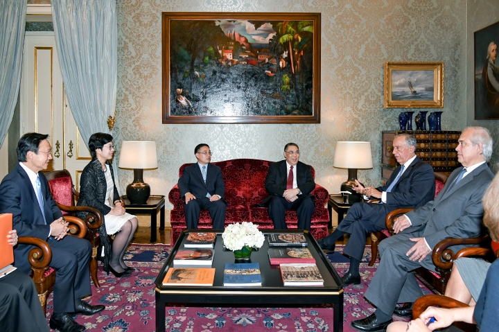 行政長官崔世安在里斯本拜會葡萄牙共和國總統馬塞洛·雷貝洛·德索薩(Marcelo Rebelo de Sousa)