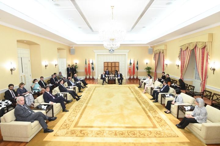 行政長官崔世安與葡萄牙共和國總統馬塞洛‧雷貝洛‧德索薩會面 (1)