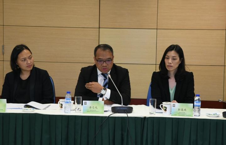 香港警務處商業罪案調查科總警司黃志光於會上發言