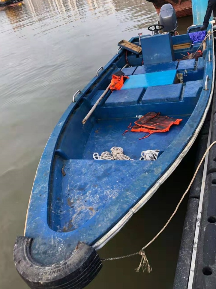 涉案偷渡船隻