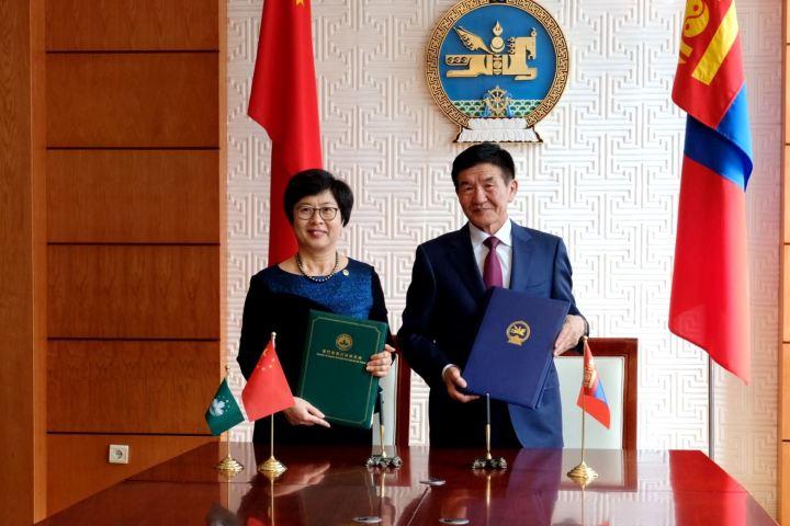 澳門特別行政區與蒙古國簽署刑事司法協助協定