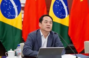 """中國駐巴西大使楊萬明在系列第一場""""中巴抗疫國際合作""""研討會發言"""