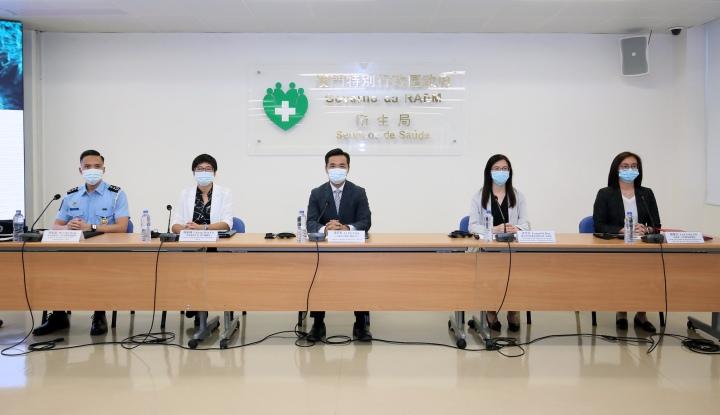 新型冠狀病毒感染應變協調中心7月13日舉行新聞發佈會