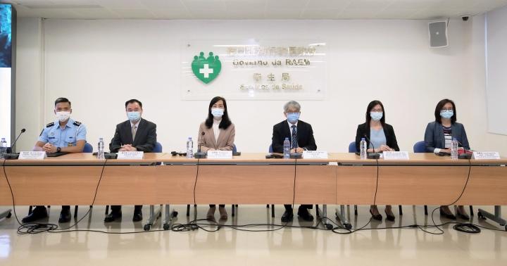 附圖1:新型冠狀病毒感染應變協調中心舉行例行記者會